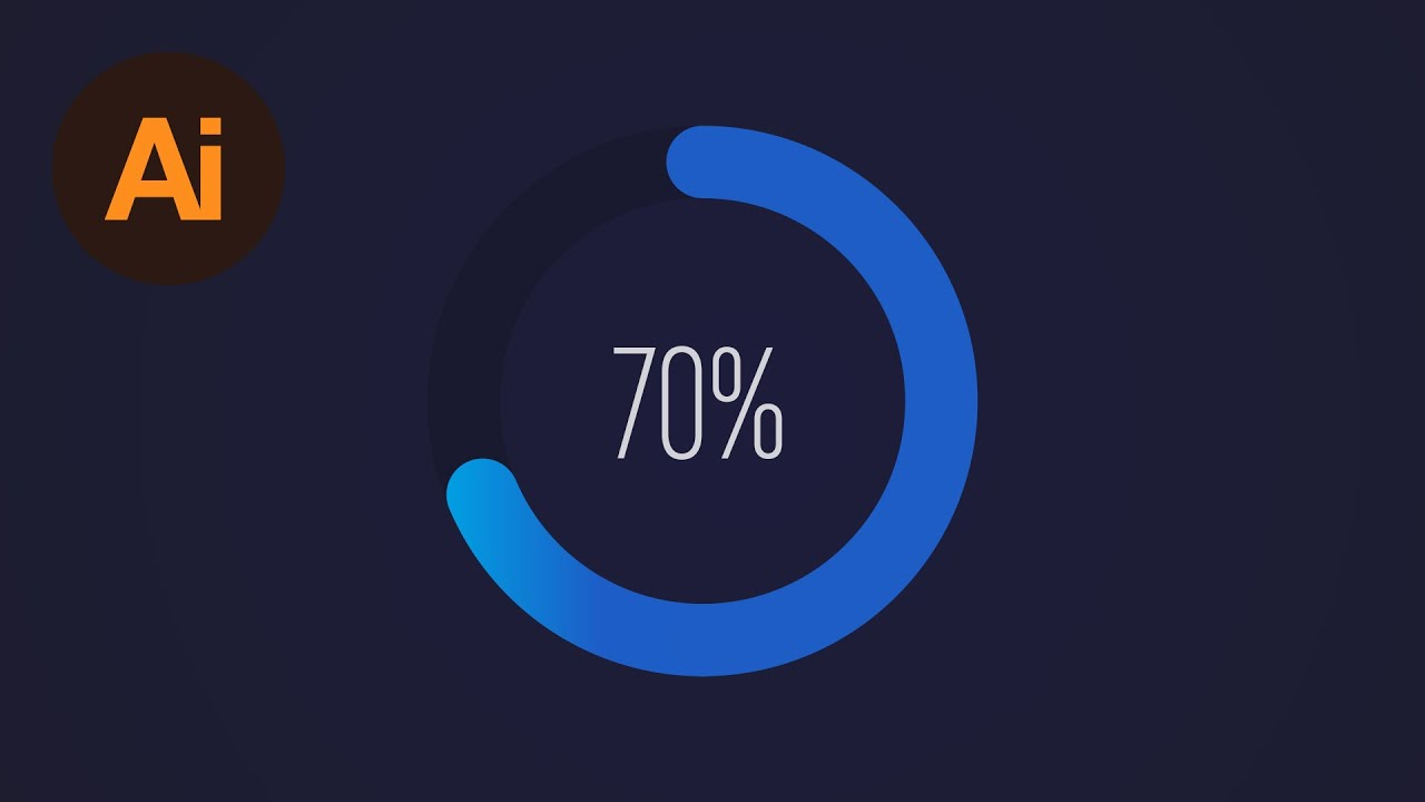 Learn How to Design a Circular Progress Bar in Adobe Illustrator | Dansky