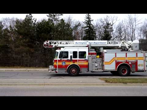 Burlington Fire Department Quint 381 Responding