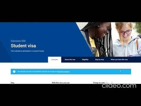 Australia Student Visa Subclass 500 Step By Step How To Apply Full Information