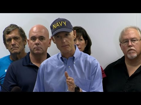 Florida governor holds a news conference
