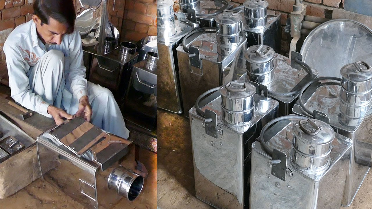 An amazing Skills of MAKING Milk Cans