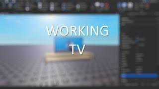 Working TV Speedbuild (SCRIPTING) | Roblox Studio
