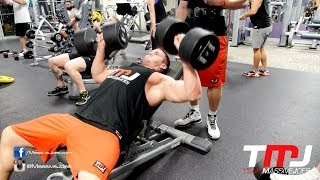 In The Gym With Team MassiveJoes - Chest Workout 27 May 2014 - Anytime Fitness Glenelg SA
