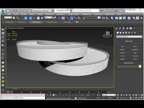 Danish pavilion 3D modeling   3dsMax
