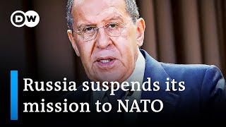 Russia shuts mission to NATO in spy row retaliation
