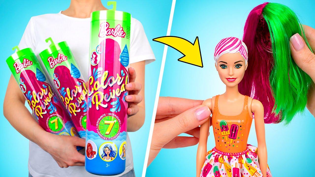 Распаковка Барби Цветное Перевоплощение