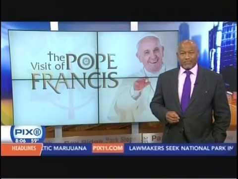 Pope Francis Cookie WPIX 9 21 15