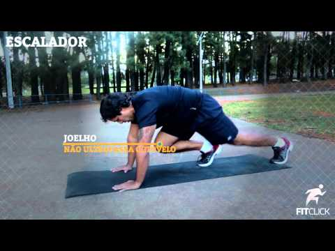 ESCALADOR (Exercício Cardio e para fortalecimento do core)