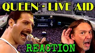 Vocal Coach Reaction to Queen - Freddie Mercury -  Live Aid -  Ken Tamplin