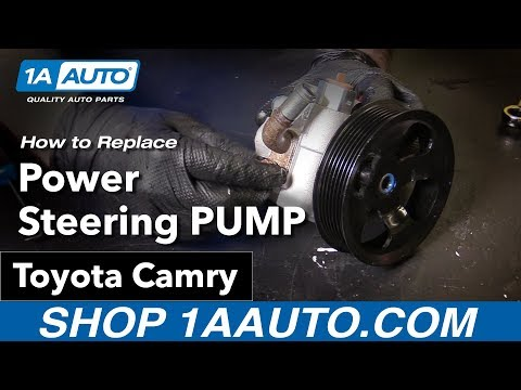 How to Replace Install Power Steering Pump 09 Toyota Camry