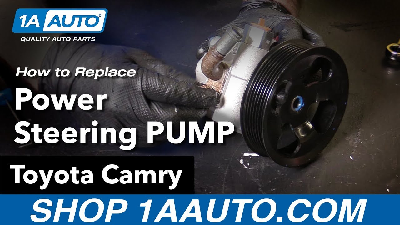 hight resolution of how to replace power steering pump 06 11 toyota camry