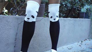 Andrea Carlisle (Comedian) styling Chrissy's Panda Thigh High Socks