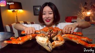 Fastest KING CRAB eating challenge