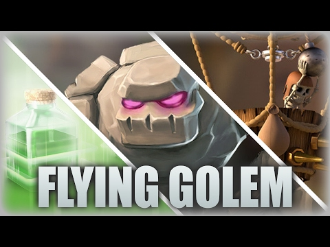 Flying Golem | TH9 Mass Golem & Jump Spell Attack In War | Clash Of Clans