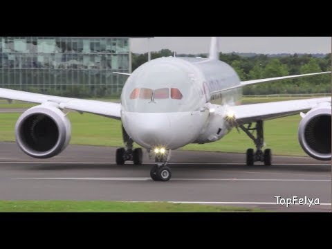 Boeing 787 Dreamliner first ever steep almost vertical takeoff at Farnborough airshow