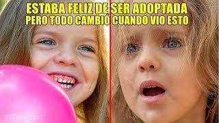 Estaba feliz de ser adoptada, pero días después su papá adoptivo le enseña algo que nunca vio.