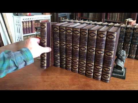 Motley fine leather set x 10 old books Dutch Republic Netherlands History
