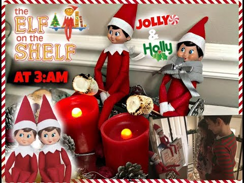 ELF ON THE SHELF at 3AM!! Caught Jolly & Holly! Week 1! Fingerlings!