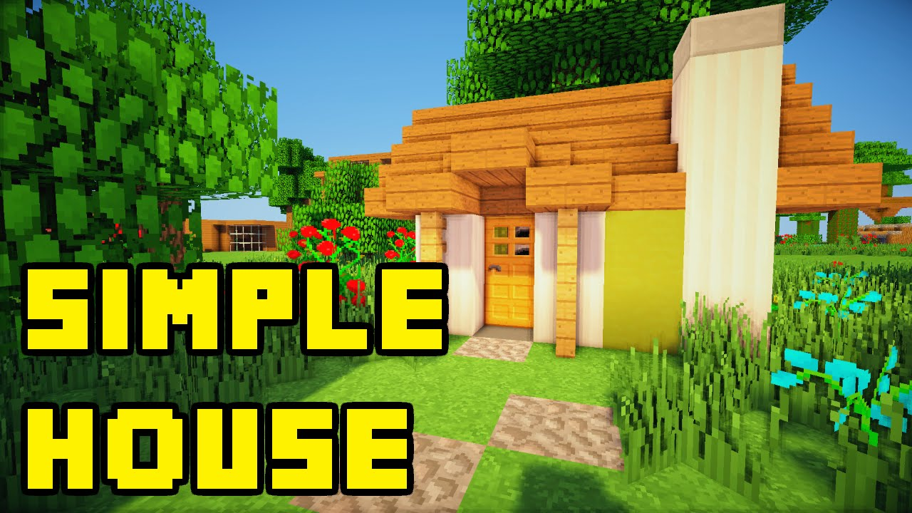Minecraft Simple Survival House Build Tutorial Xbox Pc Pe Ps3 You