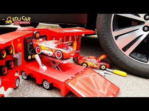 Thumbnail: Learning Color Number Special Disney Pixar Cars Lightning McQueen Mack Truck Play for kids car toys