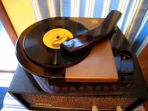 1946 RCA Model #6J 78 RPM Record Player Attachment In Action!