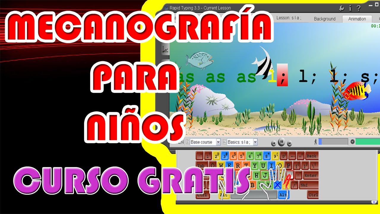 Mecanografía Para Niños Curso De Mecanografía Para Niños Gratis Youtube