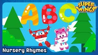 [SuperWings Song] ABC Song with Balloons | Alphabet Song | SuperWings Songs for Children