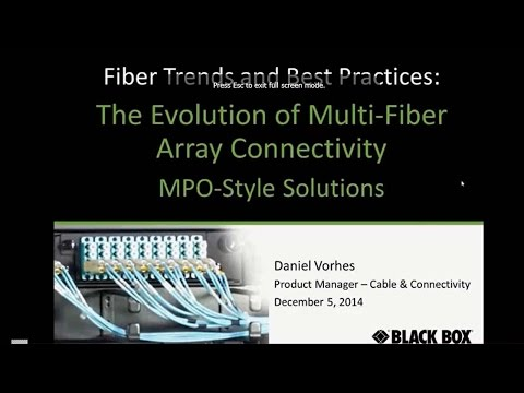 High-Density Fiber Connectivity for Data Centers (MPO/MTP)
