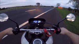 Fx3 XRE 300 - Teste de aceleração 0-100 km/h.