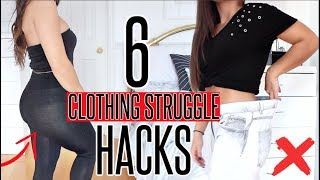 6 Clothing STRUGGLE Hacks EVERY GIRL MUST KNOW !!!
