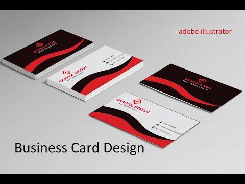 Business card design | Adobe illustrator CC tutorial | Graphic Design thumbnail