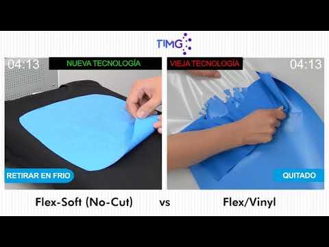 Demostración de flex Soft (no cut) vs Flex Vinyl