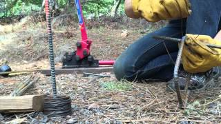 Making Rebar Cages For Concrete Piers - Backyard Edition
