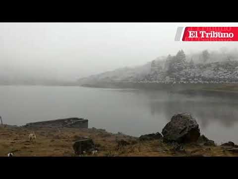 La nieve regaló un majestuoso paisaje en Yala