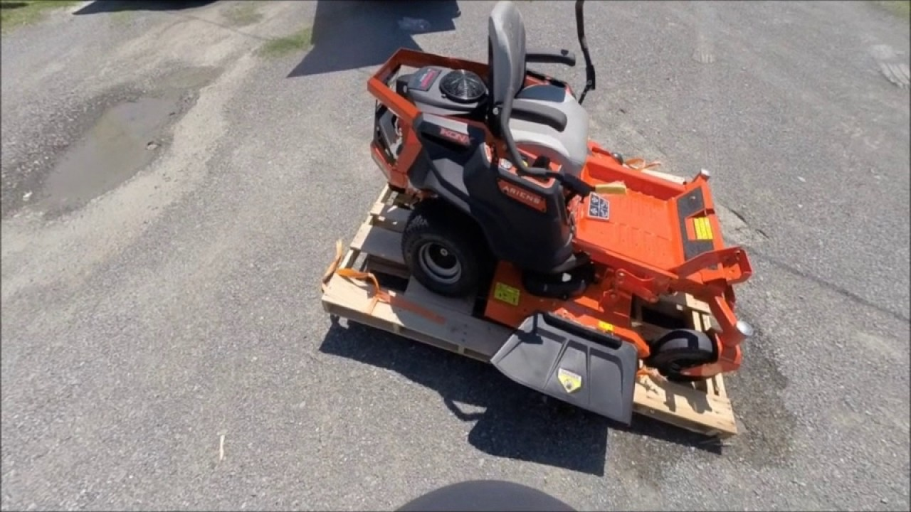 medium resolution of ariens ikon x 52 in 23 hp kawasaki zero turn riding mower assembly and review
