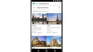 جوجل للبحث يقدم دليل سفر للمساعدة في تخطيط العطل عبر ميزة الوجهات