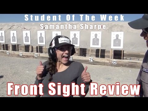Front Sight Student Review | Samantha Sharpe | Student Of The Week | Firearm Training Review