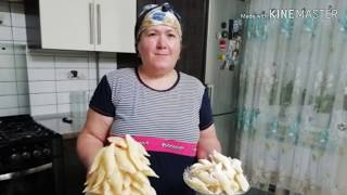 Татарская национальная сладость Кош теле. Хворост.