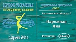 Синхронное плавание, Соло, Нарежная Яна, Кубок Украины 2014, Техническая программа