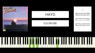 Hayd - Closure (BEST PIANO TUTORIAL & COVER) видео
