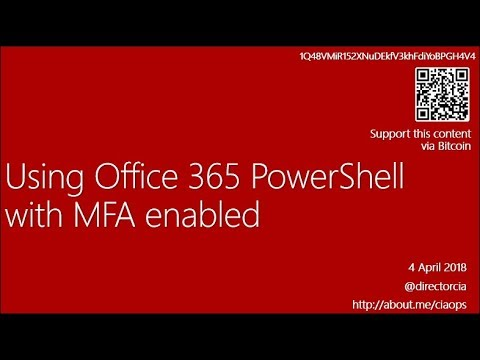Using Office 365 PowerShell with MFA enabled