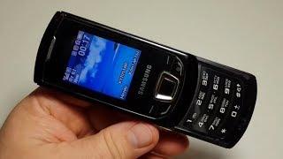 Samsung GT E2550 оригинал слайдер обзор ретро телефон