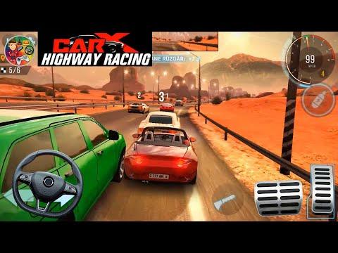 Carx Higway Racing | Direksiyonlu Kırmızı Spor Araba Yarış Oyunu | Color Games | Mobil Game |