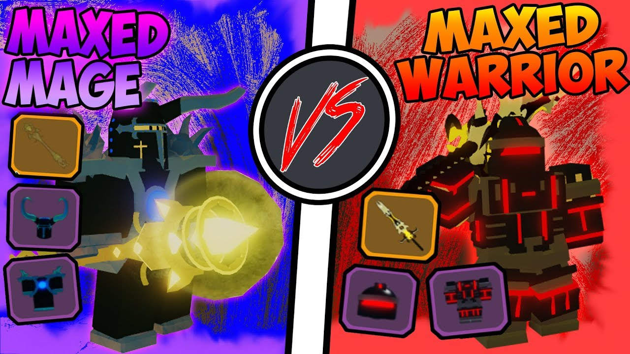 Roblox Dungeon Quest Red Knight Armor Maxed Mage Vs Maxed Warrior Roblox Dungeon Quest Youtube