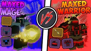 Maxed Mage VS Maxed Warrior!!! - ⚔️Roblox Dungeon Quest