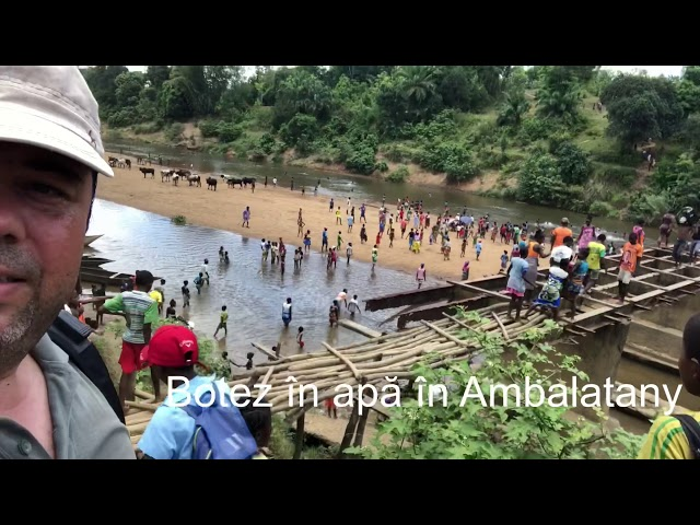 Botez în apă și sărbătoare în Ambalatany