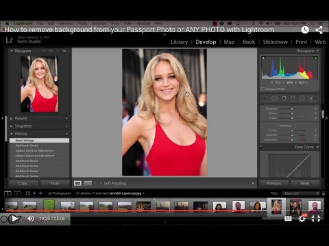 How to remove background or make it white for your Passport Photos with Lightroom
