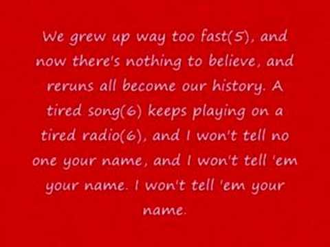 Goo Goo Dolls - Name w/lyrics