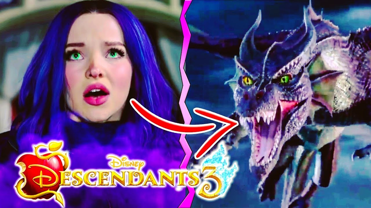 DESCENDANTS 3 🍎 MAL TURNS INTO A DRAGON AGAIN ?! 🐉 D3 Mystery Trailer  Deets Breakdown Analysis! 🔮