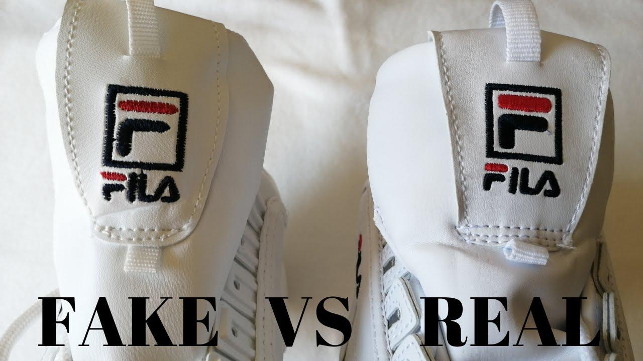 Fake vs Real Disruptor Fila Sneakers